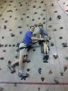Daddy and Wiggy climbing